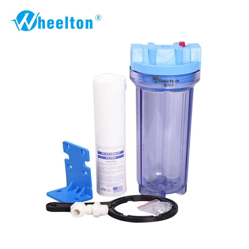 Wheelton brand Water pre filter Protect  water appliance Water purifier Filled by 10-inch PP cotton Freeshipping brand new 1pcs pure water machine self priming pump water pp cotton filter 2 points home appliance parts