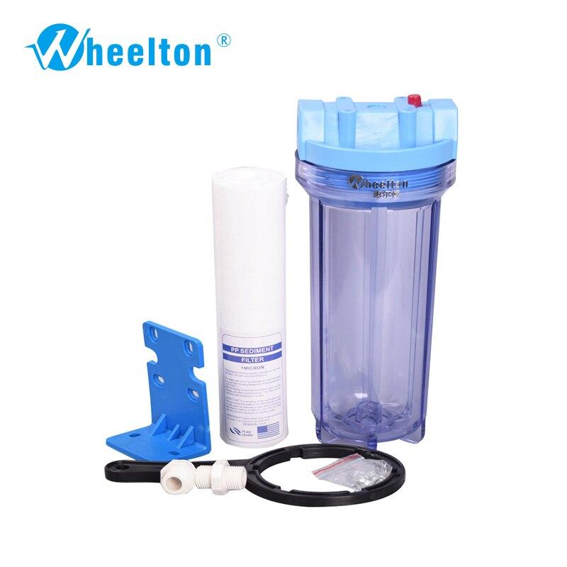 Wheelton marca Proteger aparato de agua purificador de Agua pre-filtro de Agua Llena de algodón de LOS PP de $ number pulgadas Freeshipping