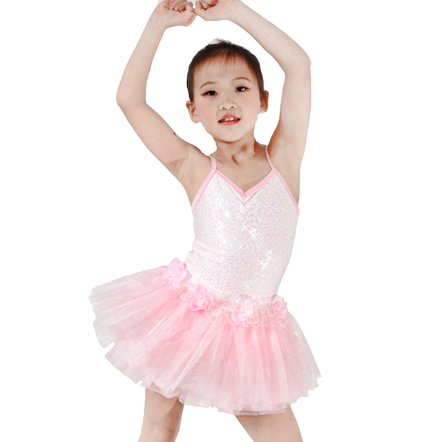 bf4a33c4c MiDee Contemporary Performance Costumes Pinky Swan Ballet Floral ...