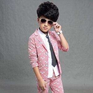 Image 2 - Gentleman anzug für junge Einreiher jungen anzüge für hochzeiten kostüm enfant garcon mariage jungen jogging garcon blau grau