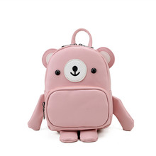 Здесь можно купить  Cute Girls Backpack Children Cartoon 3D Bear Backpack Creative Women Knapsack Mini Leather Backpack New Brand Crossbody Bag D20  Backpacks
