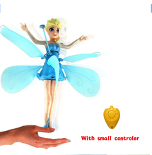 RC Helicopter Kids RC toys Elsa Princess toys drone flying Induction flyer Helicoptero Action figure Kid's gift Brinquedos