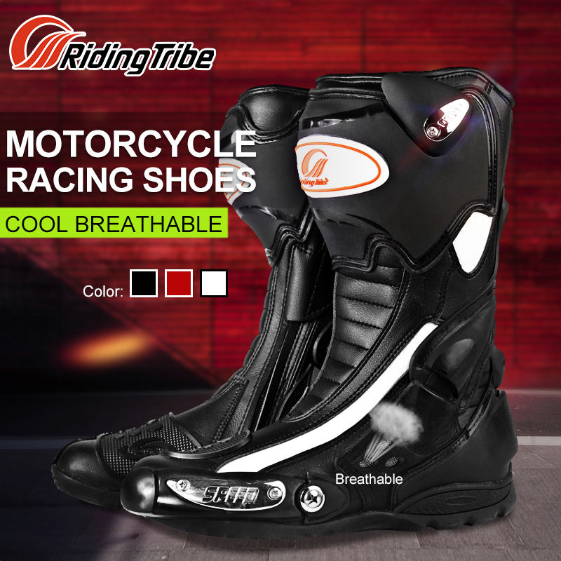 Riding Tribe Mens Motorcycle Riding Long Boots Outdoor Knight Riding Boots Shoes Motorcycle Anti Fall Boots European Size 7.5-10 цены