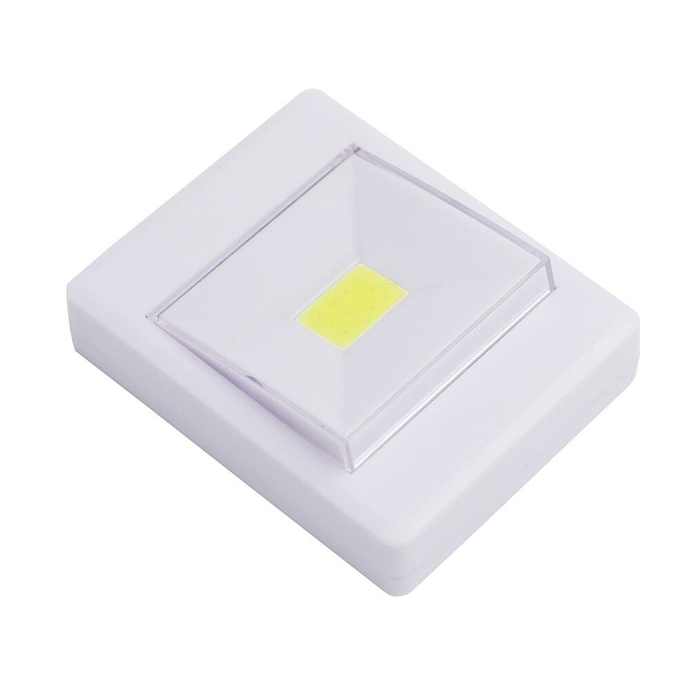 4 * AAA pilas inalámbrica COB LED noche luz interruptor armario bajo ...