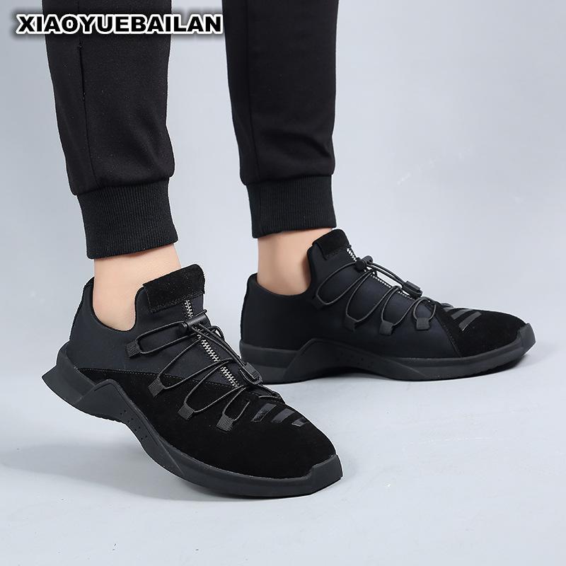Le printemps 2018 nouveaux hommes chaussures respirant fond souple noir élastique pédale