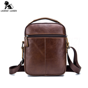 Image 2 - 2019 Men Tote Bags Genuine Leather New Fashion Man Leather Messenger Bag Solid Cross Body Bags Shoulder Business Bags For Men