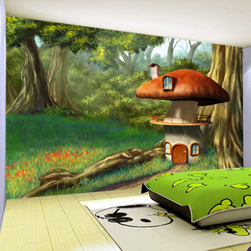 Fairy tale bedroom promotion shop for promotional fairy for Mural 3d simple