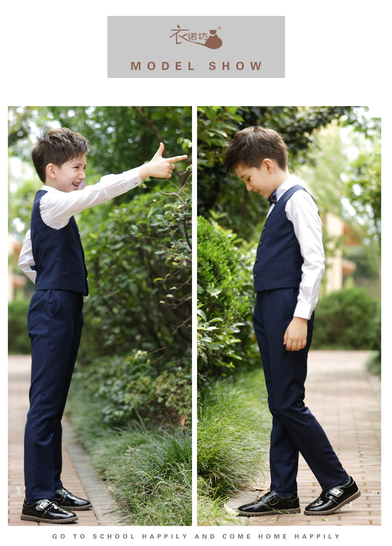 2017 Promotion Big Boys Vest Clothing Set Children Leisure Clothes Kids Wedding Prom Suits Christmas Costumes For Tie Shirt (11)