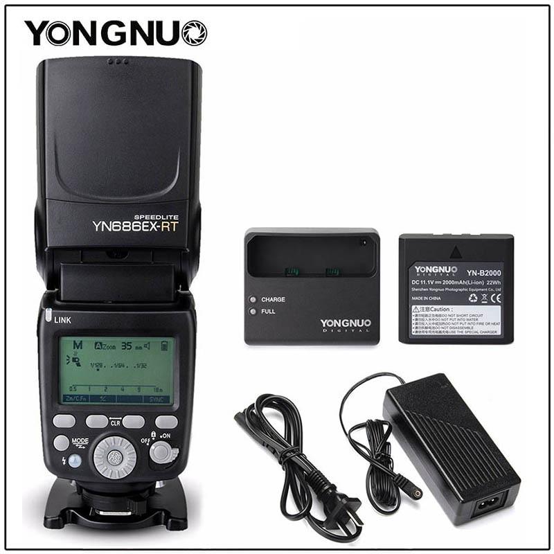 YONGNUO YN686EX-RT Lithum Battery Speedlight Wireless Slave Flash Speedlite With Optical Master TTL HSS For Canon DSLR Camera