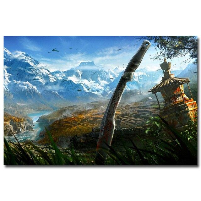 Плакат гобелен Far Cry 4 шелк вариант 3