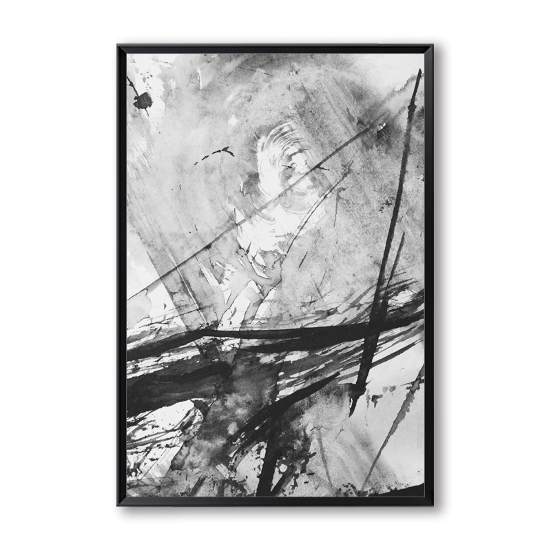 3 Pièces Abstrait Jaune Gris Rose Encre Splash Toile Peinture Art Imprimer Affiche Photo Décoration Murale Moderne Décoration De La Maison