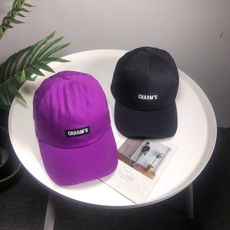 Baseball Cap Women Spring And Summer Fashion Purple Letter Embroidery Soft Top Cap Student Visor Outdoor Sun Hat Men Snapback