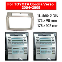 Car DVD/CD Radio Stereo Fascia Panel Frame Adapter Fitting Kit for TOYOTA Corolla Verso 2004 2009 11 560