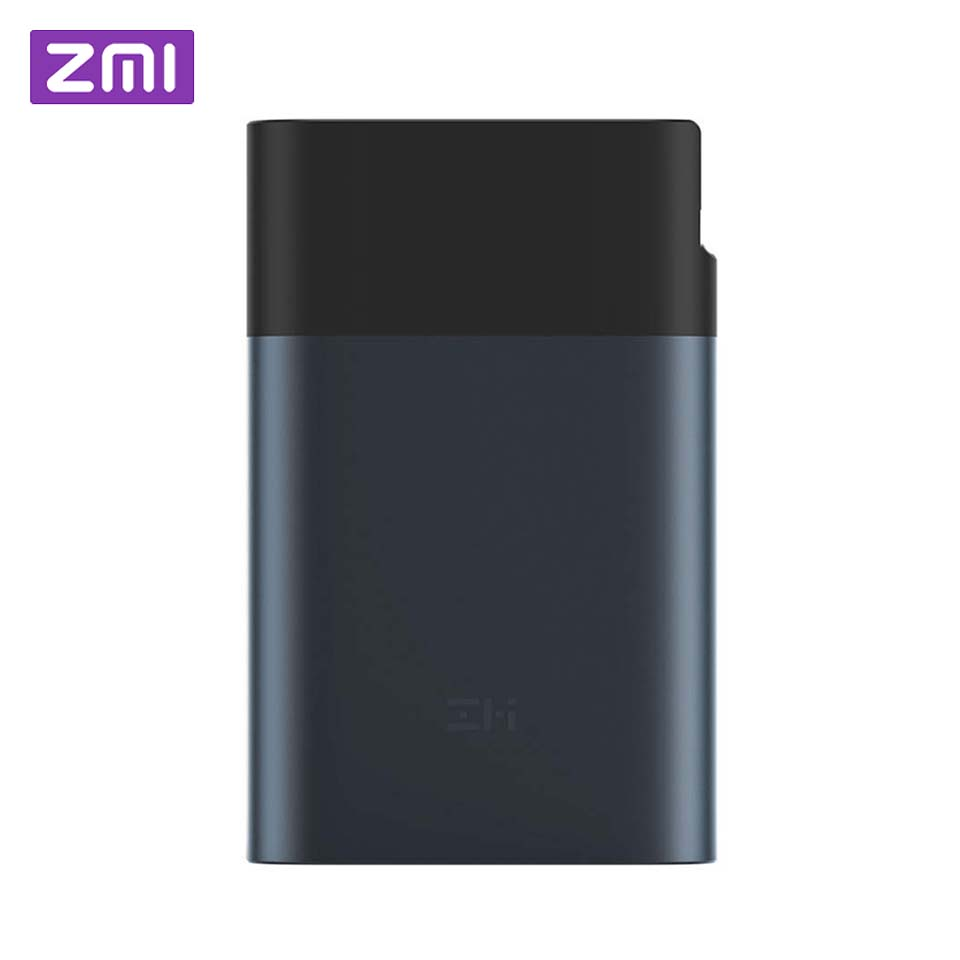 Original zmi 3g 4g wifi roteador 10000 mah banco de potência lte hotspot móvel 10000 mah qc 2.0 carga rápida bateria powerbank