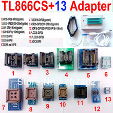 Tl866cs programmeur + 13 adaptateurs universels PLCC Extractor TL866 AVR PIC Bios 51 MCU EPROM Flash programmeur russe anglais manuel