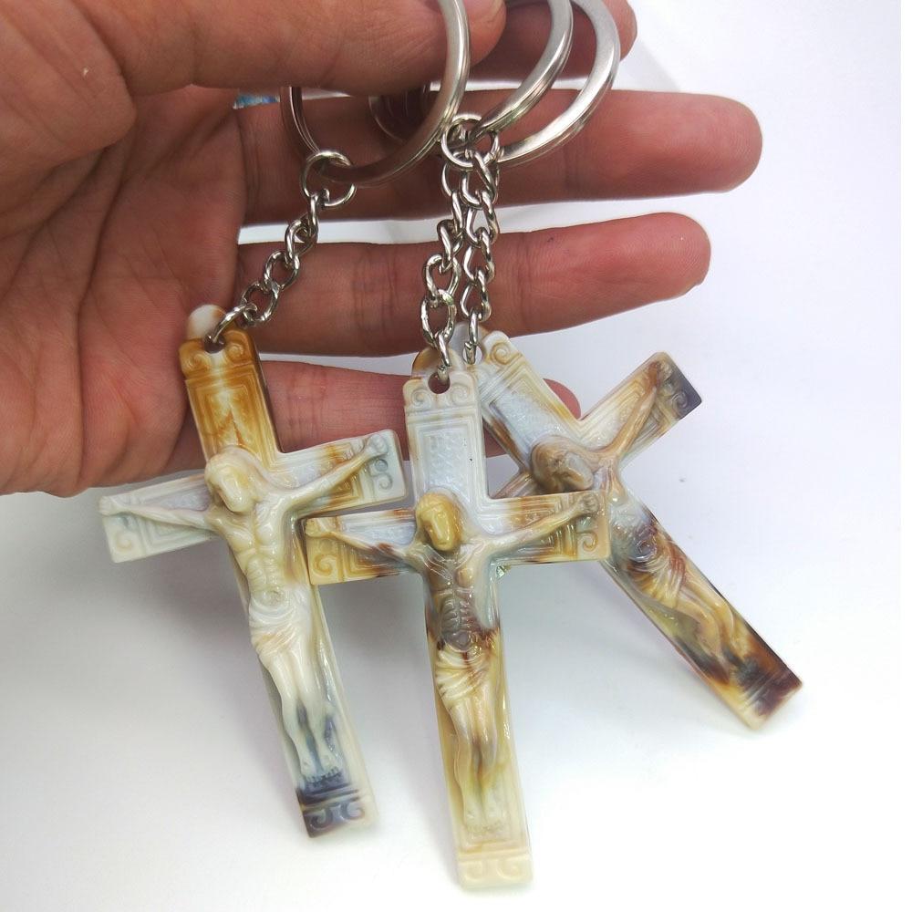 Cruz chaveiro cristão religioso jóias presente