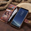 LUCKBUY 2018 Case For Galaxy Note 8 Vintage Luxury Woods Pattern Painted PU Leather Flip Wallet