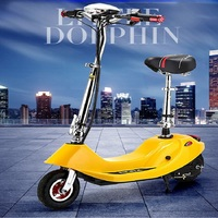 Adult folding two wheeled vehicle shock absorbing bicycle/Small and light scooter/Urban electric car