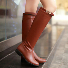 Sexy Warm Long High Boots 2015 Fashion Winter Female Shoes Over-the-knee Women's Boots Flat Shoes