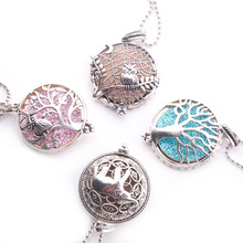 Aroma Diffuser Elephant Open Antique Vintage Lockets Pendant Perfume Essential Oil Aromatherapy Locket Necklace +1Sequin HJ166