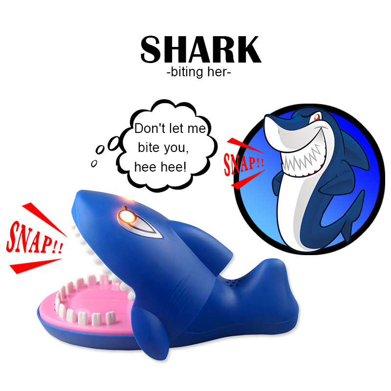 Funny 22CM Gags Practical Jokes toy shark dentist parent-child interesting game Family interactive toy Gift For Kids children ...