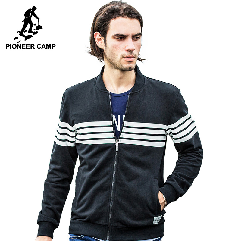 Pioneer Camp marque clothing Printemps Printemps Haute qualité Cardigan à capuche hommes veste manteau mâle sweat shirts mode casual