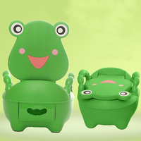 Portable Cartoon Baby Toilet Girls Boy Potty Seat Folding Chair Cute Frog Drawer Training Toilet BM88