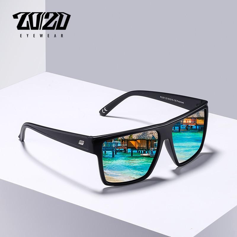 20/20 diseño de la marca Gafas de sol polarizadas nuevas de los hombres Gafas de sol hombre de mujer T/clase camisa/Camiseta tipo mujeres de suave camiseta ser amable espejo Gafas tonos Gafas PL331
