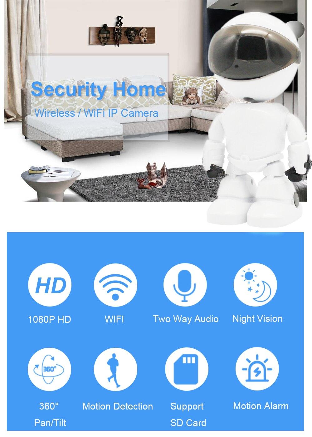 Robot WIFI Wireless IP Camera 7