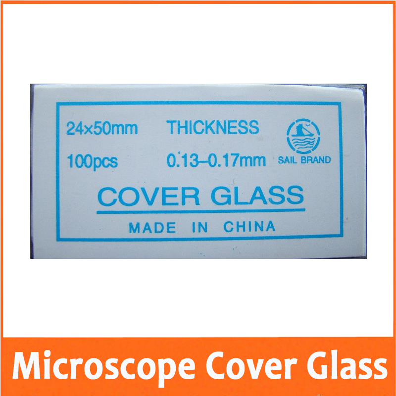 100PCS 24X50mm Microscope Glass Slide Cover Slips Blank Slides Microscope Accessory 0 13 0 17mm for