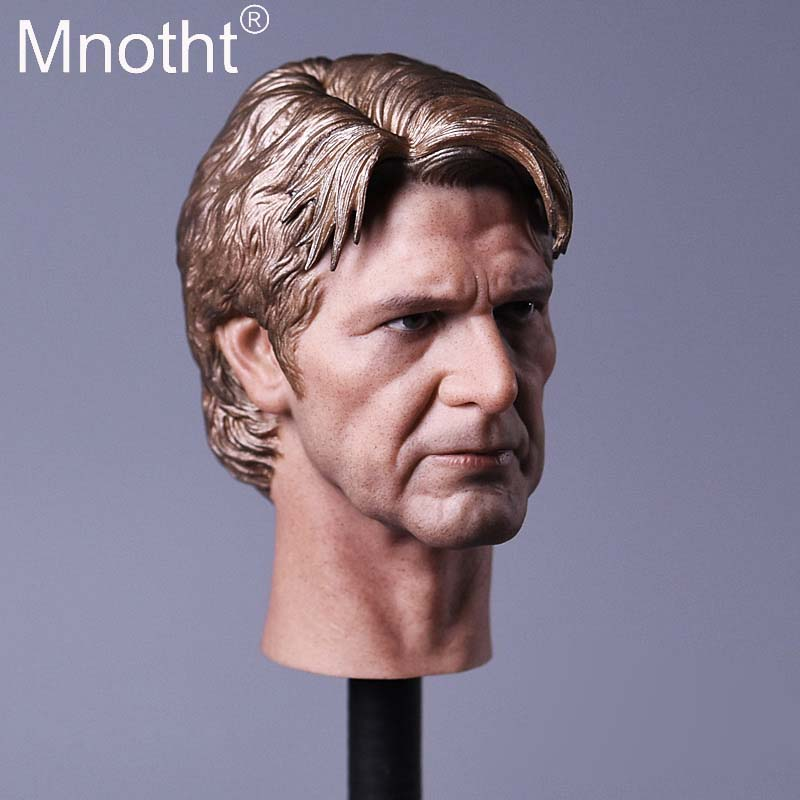 JX03 Han Solo Head Sculpt Model 1/6 Scale Movies Male Soldier Head Carving Toys For 12in Action Figures Toys Collections