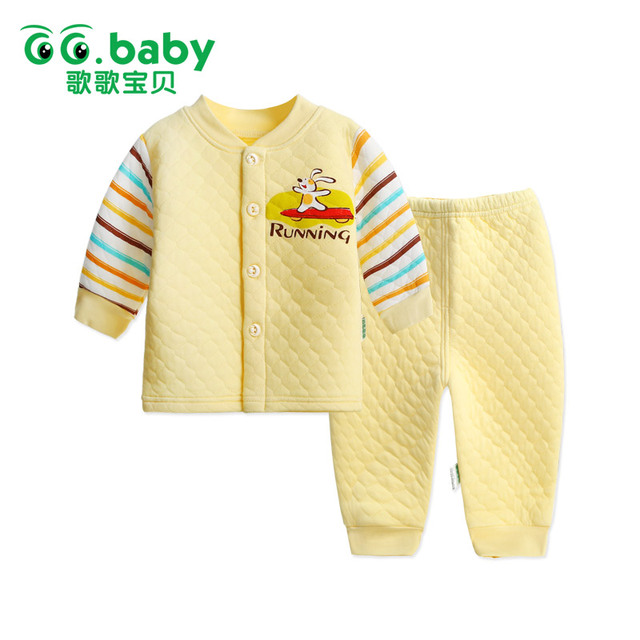 2017 New Cotton Winter Suit Baby Girl Clothing Set Animal Bebes Suit Warm Tops Pants Infant Newborn Baby Boy Winter Clothes Sets
