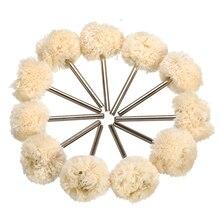 عجلة تلميع كاشطة مثبتة على خيط قطني مزدوج 10 قطعة لملحقات أدوات دريمل الدوارة فرشاة تلميع الكاشطة