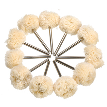 10pcs Double Cotton Thread Mounted Abrasive Polishing Wheel For Dremel Rotary Tools Accessories Abrasive Brush Polishing Brush