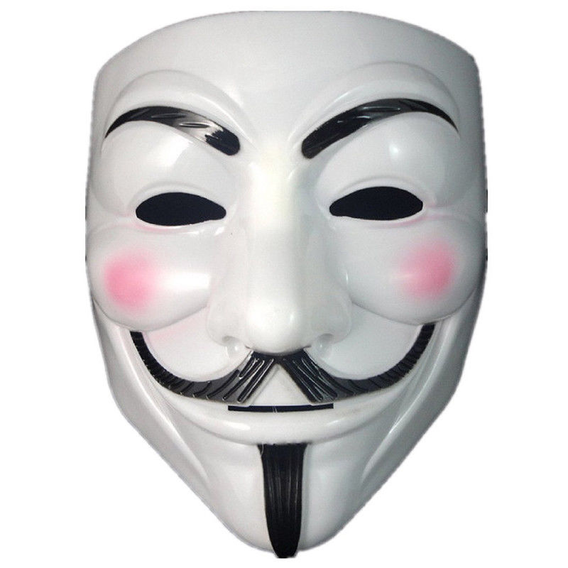 Anonymous Hacker V for Vendetta Guy Fawkes Fancy Dress Halloween Face Mask NEW