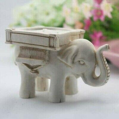 Ретро подсвечник в виде слона для чая, Керамический Свадебный домашний декор цвета слоновой кости