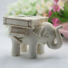 Retro Elefant Tee Licht Kerzenhalter Elfenbein Keramik Braut Hochzeit Home Decor