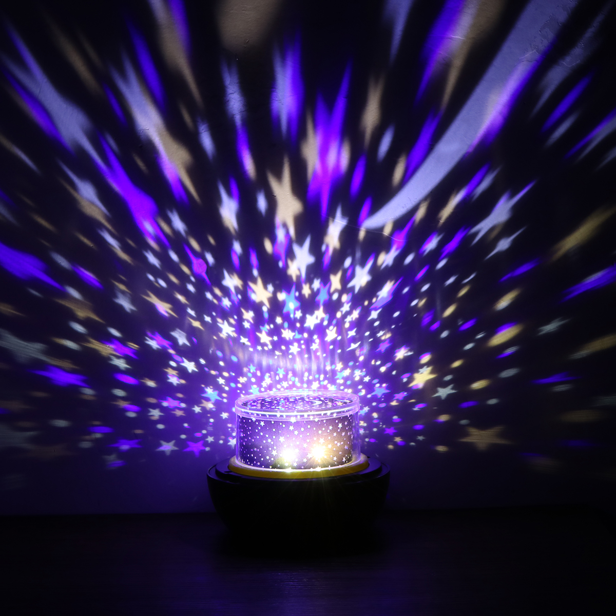 Starry Sky Magic Star Moon Planet Rotating Projector Lamp