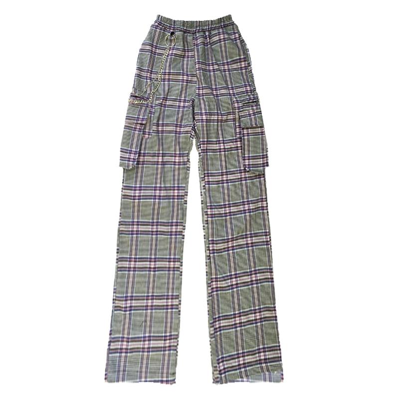 Y Tierra Otoño Hombres Cadena Mujeres Flojo Pantalones Celosía Disco Fresco dtYqwPPfx