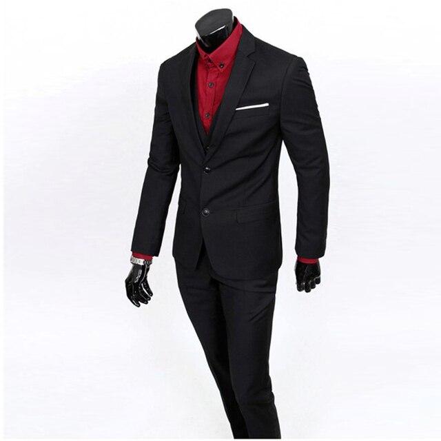 ecf683c587e1c (Kurtki + Spodnie) Nowych Mężczyzna Garnitury Slim Fit Smokingi Marka  Niestandardowe Moda Bridegroon Biznes
