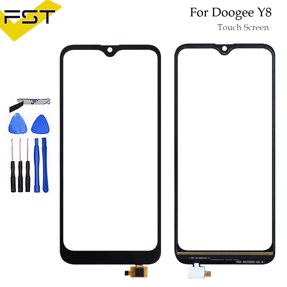 6.1Black Touch Screen For Doogee Y8 Perfect Repair Parts Touch Panel Sensor Glass Lens for Doogee Y8 Phone+Tools6.1Black Touch Screen For Doogee Y8 Perfect Repair Parts Touch Panel Sensor Glass Lens for Doogee Y8 Phone+Tools