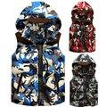2017 новое прибытие новое прибытие большой сочетание цена камуфляж Вниз жилет моды для мужчин утолщенной теплое пальто плюс размер Ml XL2XL3XL