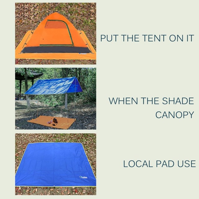 4-6 Persons Ultralight Multifunctional Waterproof Camping Mat Tent Tarp Footprint Ground Mat For Outdoor Camping Hiking Picnic 4