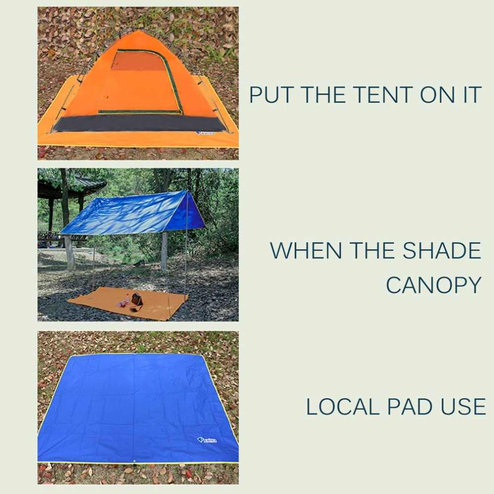 4-6 personas ultraligero multifuncional impermeable Camping Mat tienda lona huella suelo Mat para Camping al aire libre senderismo Picnic