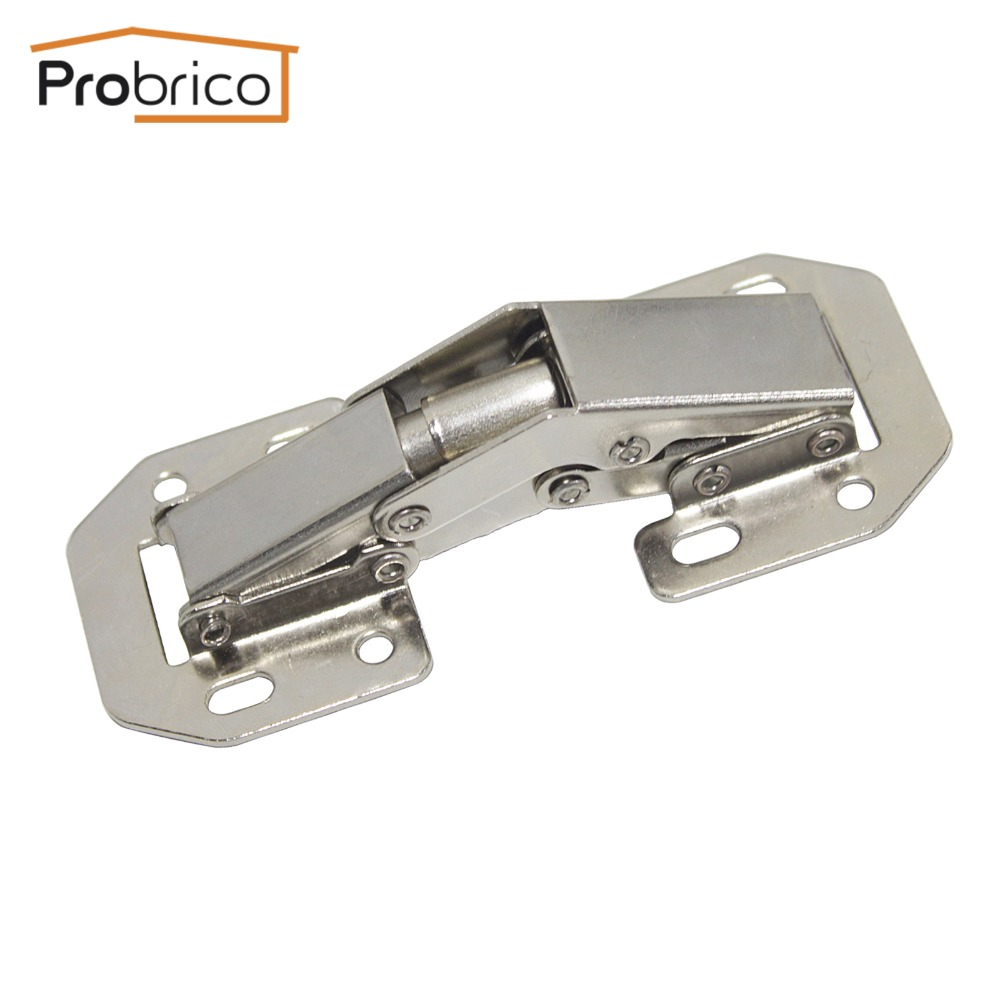 US $2.99 |Probrico 1 PCS Kitchen Cabinet 90 Degree Hinges Iron CHB405GA  Furniture Concealed Cupboard Door Hinge Free Openings-in Cabinet Hinges  from ...