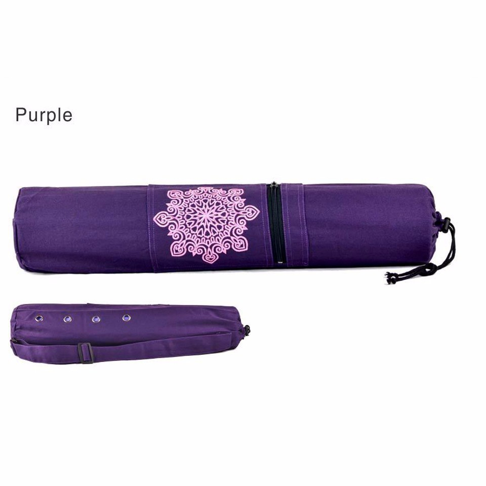 New 68x15cm Yoga Mat Bag Canvas Strap Exercise Gym Fitness Pilates Yoga Mat Bag Carrier Backpack For Under 6mm Thick Yoga Mat in Yoga Mats from Sports Entertainment