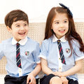 Wholesale Kid's School Uniforms 95% Cotton Summer Clothes Primary School Students Pupils Uniforms Childrens Day