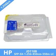 جديد JD118B جيجابت SX LC صغير GBIC HP SFP وحدة DDM MMF 850nm 550m LC تحتاج إلى مزيد من الصور ، يرجى الاتصال بي
