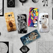 Wise Colorful Lion King Pattern TPU Phone Case for Samsung Galaxy S4 S5 Mini S6 S7 Edge Plus S8 Note 4 5 G530 Silicone Case