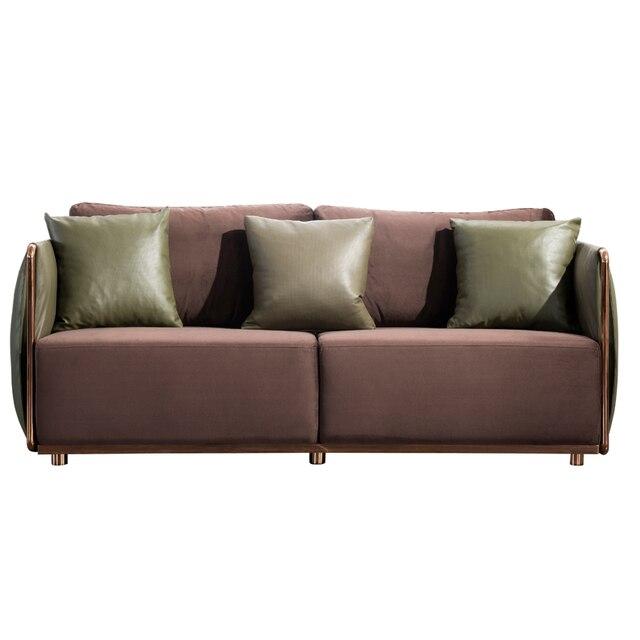 Più nuovo disegno di lusso in pelle anilina divano insieme con l ...
